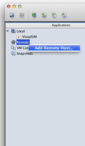 visualvm - add a remote host