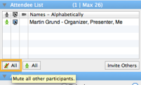 GoToMeeting - Attendee list