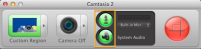 Camtasia - Recording panel