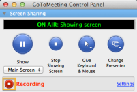 GoToMeeting - Start recording