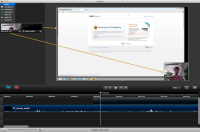 Camtasia - Arranging clips